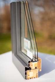 Holz-Alu-Fenster, Querschnitt