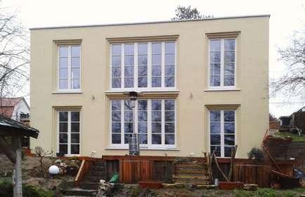Neubau EFH, Holzfenster mit Wiener Sprossen