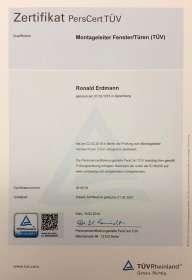Zertifikat Montageleiter Fenster & Türen